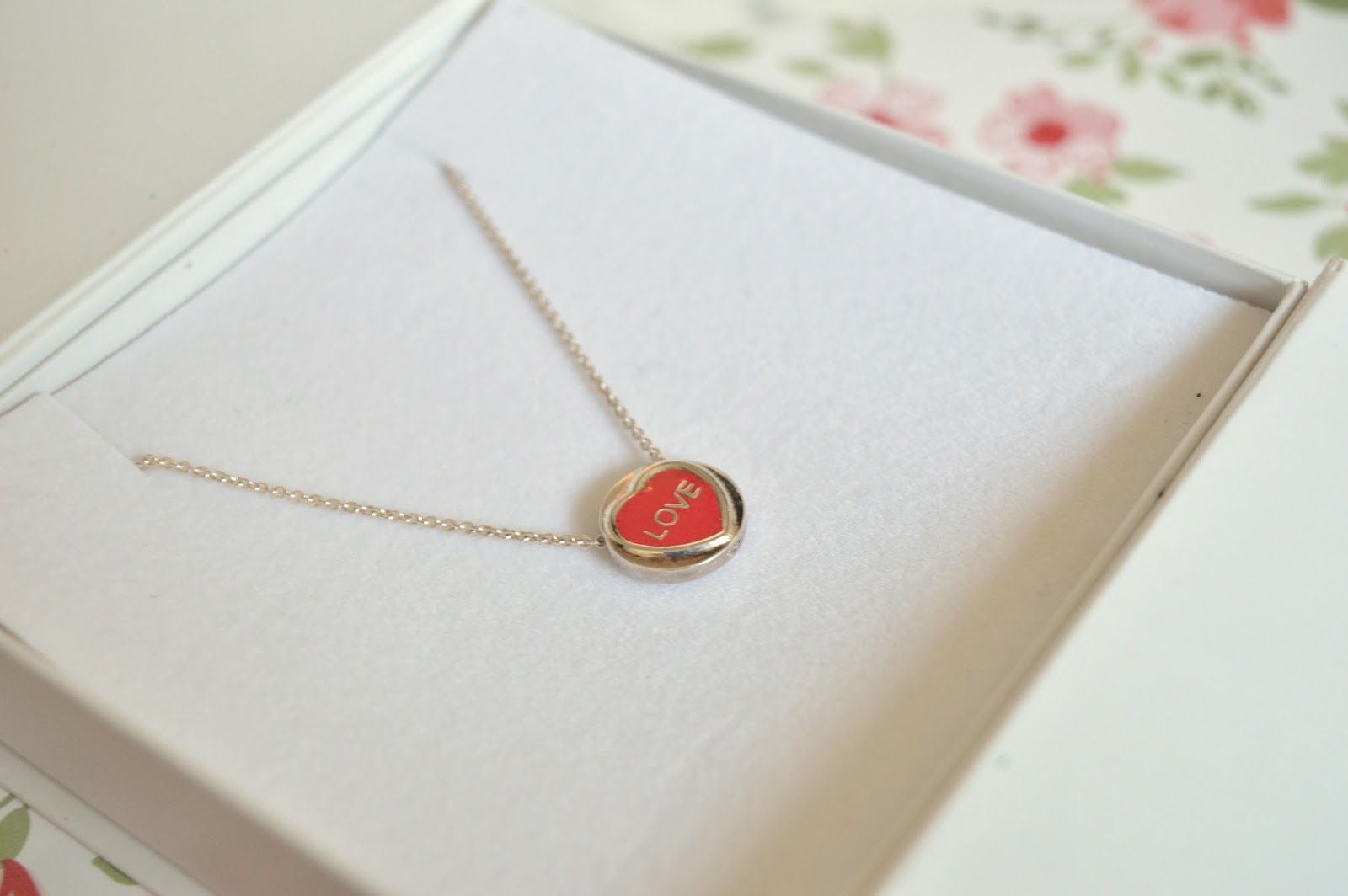 Engraved Mini Love Heart Necklace
