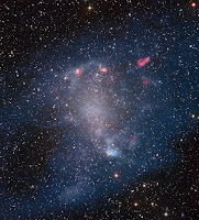 Star forming gas clouds in NGC 6822