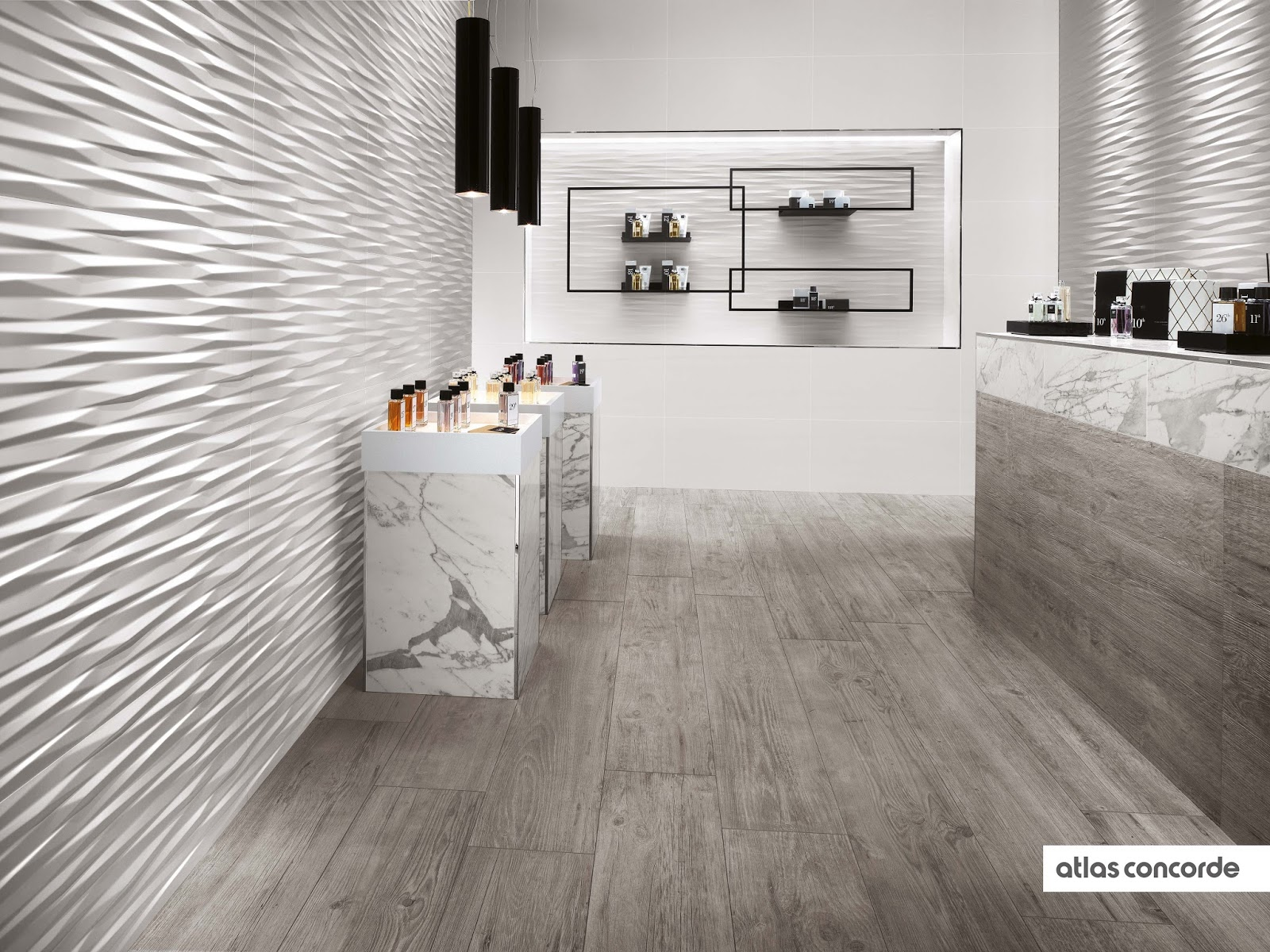 ISC Surfaces Atlas Concordes Stunning 3D Wall Tile