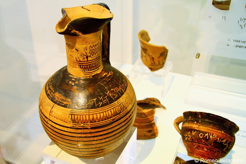 Wine Jug with Dipylon Inscription National Archaeological Museum of Athens One Day in Athens