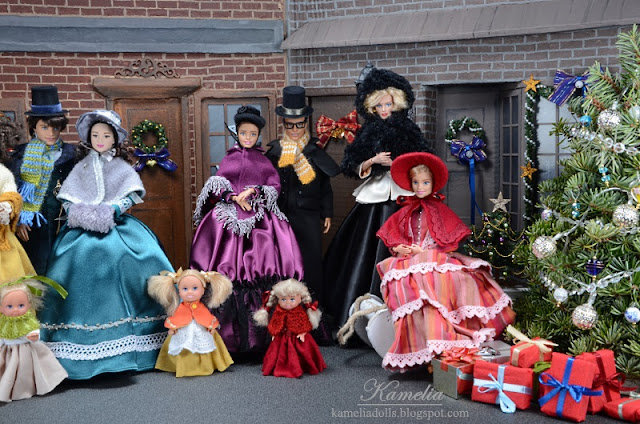 19th century gowns for Barbie dolls.