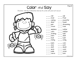 Halloween articulation activities for speech therapy