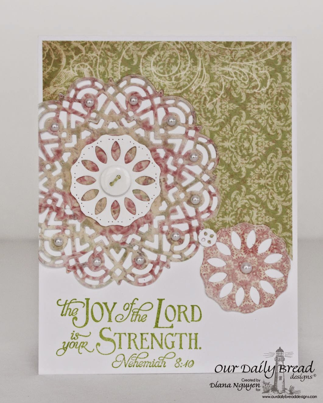 Our Daily Bread Designs, ODBD Doily Die, Scripture Collection 6, ODBD Blushing Rose Paper Collection, Designed by Diana Nguyen