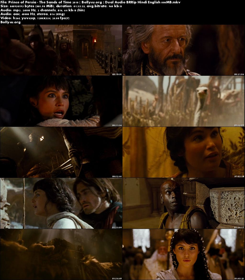 Prince of Persia The Sands of Time 2010 BRRip Hindi Dual Audio 720p Download