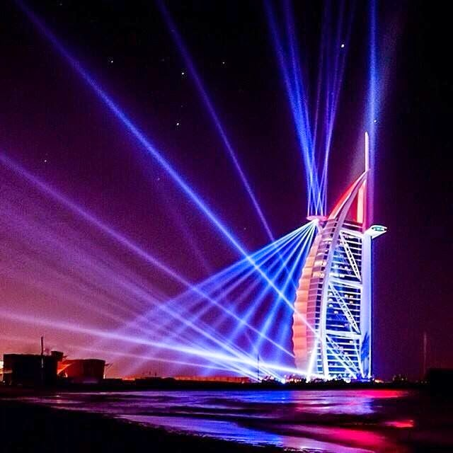 Dubai burj al arab lightshow hd quality desktop - Burj al arab wallpaper iphone ...