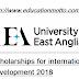 UK University of East Anglia Scholarships For International Development 2018