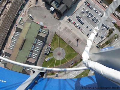 Fesselballon Highflyer Hamburg, Blick in die Tiefe