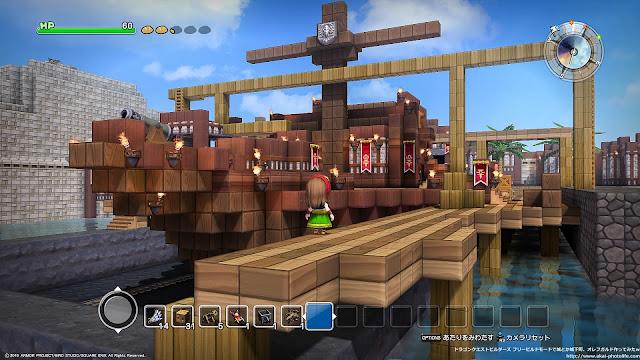 dragonquest builders フリービルドモード造船所作ってみた