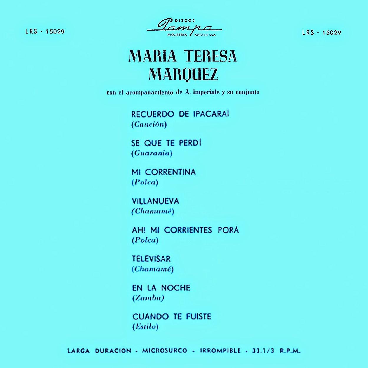Mauricio Cardozo Ocampo Y Su Conjunto Paraguayo - Jha Pilincho = Oh Pilincho / Mburucuyá
