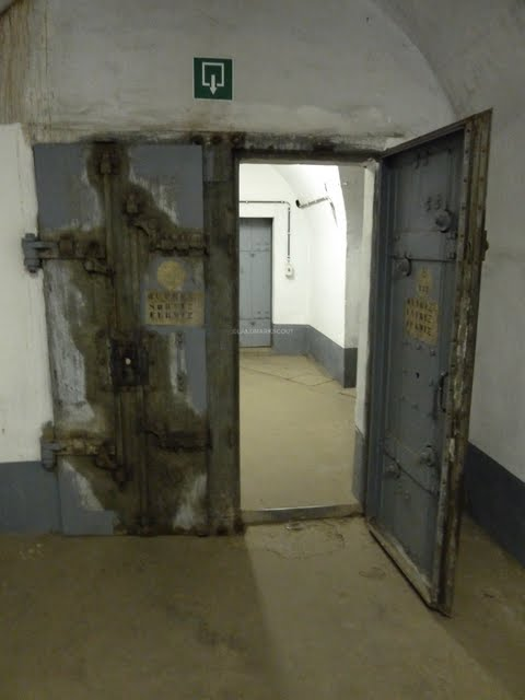 Large doors at Fort Eben-Emael