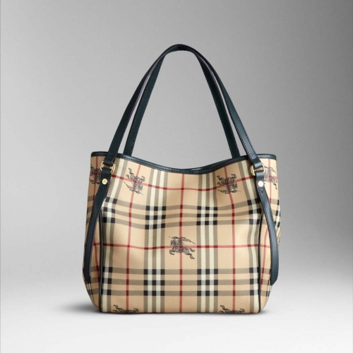 Burberry Small Haymarket Check Colour Tote Bag Racing Green 27 X 25 15cm