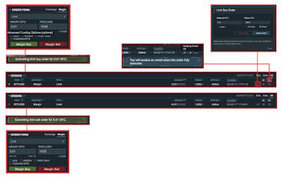 Bitfinex - Trading Platform Dashboard Explained - Order Management