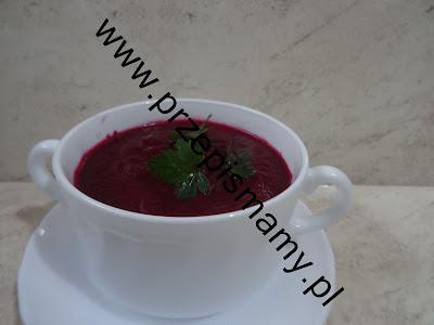 Zupa krem z buraczków pieczonych