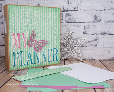 Back To School With A New Planner - with Free Tutorial!  Instructions and supplies available here