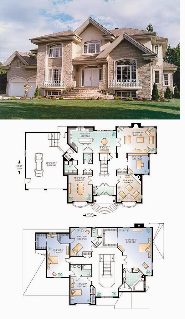 Duplex House 3d View Ground And First Floor Plans