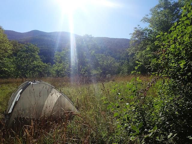 Podczas spania na dziko najlepiej mieć namiot