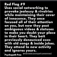 Red flags of psychopaths