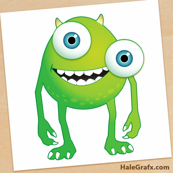 Monsters Inc. Pin the Eye on Mike FREE Printable