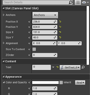 Canvas Details Panel: Bind Text