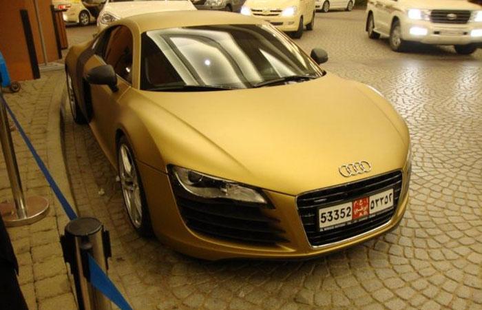 Tyler Haltman: Golden Audi R8 Cars - Seems Designed With