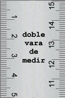 Resultado de imagen de DOS VARAS DE MEDIR