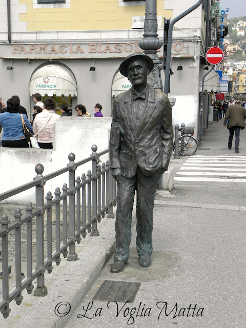 statua in bronzo di James Joyce a Trieste
