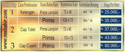 Gosir Batik cap murah di Bandung dengan bahan katun yang berkualitas. Mulai harga
