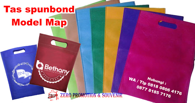 Goodie Bag Bahan Spunbond Dokumen Map, Tas Furing Ukuran Map, tas goodie bag Map / oval, Tas belanja/Goodiebag model map uk 25x35