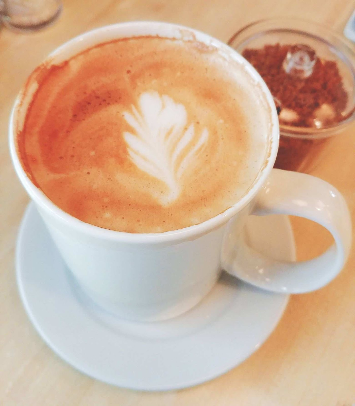 Cafe latte at Sweet Tomato Grill