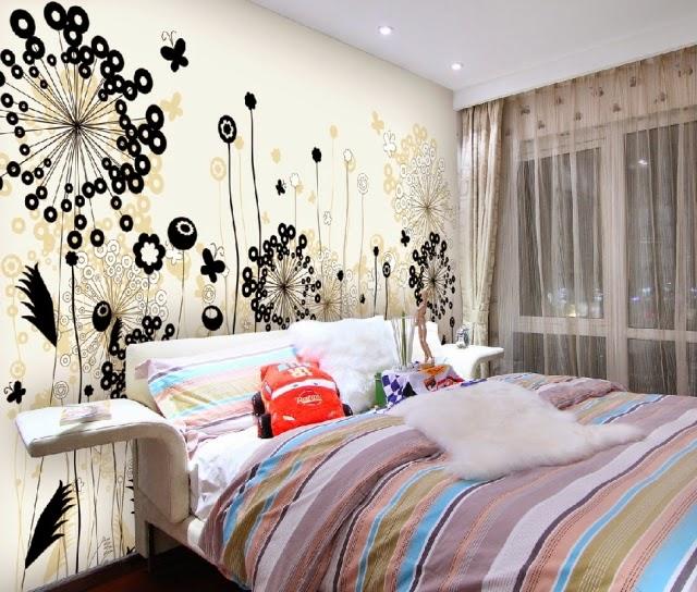 Dormitorios con murales dormitorios colores y estilos - Dormitorios blanco y negro ...