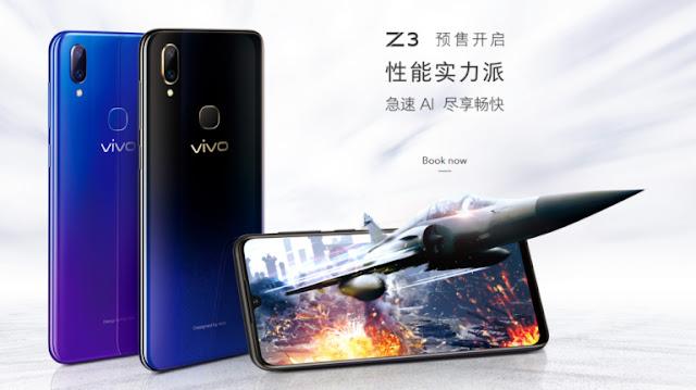 Penerus Vivo Z1, Resmi Vivo Z3 dengan RAM besar Harganya Terjangkau