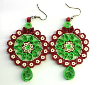 Trendy earrings flower designs for kids - Quillingpaperdesigns