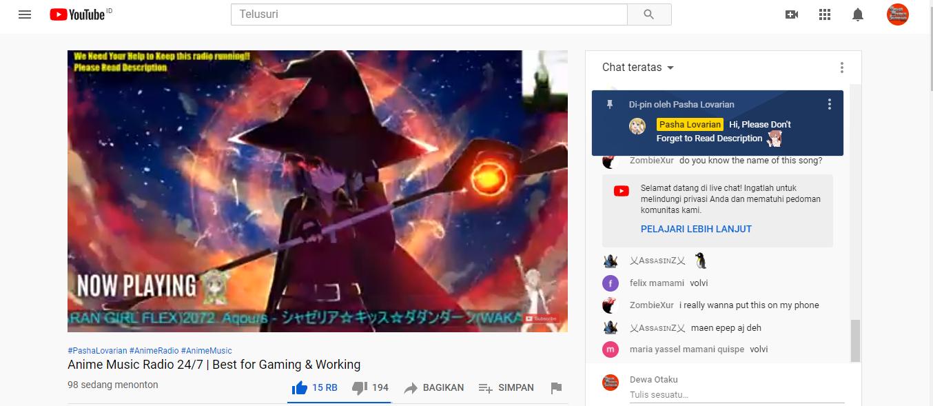 anime live musik