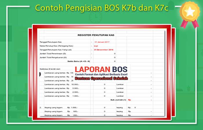 Contoh Pengisian BOS K7b dan K7c