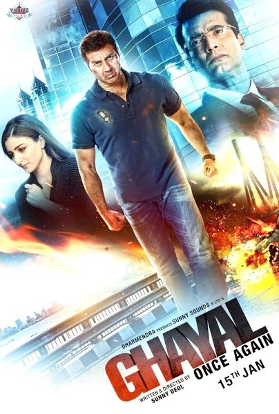 Poster Of Ghayal Once Again 2016 Hindi 140MB HDRip HEVC Mobile Free Download Watch Online Worldfree4u