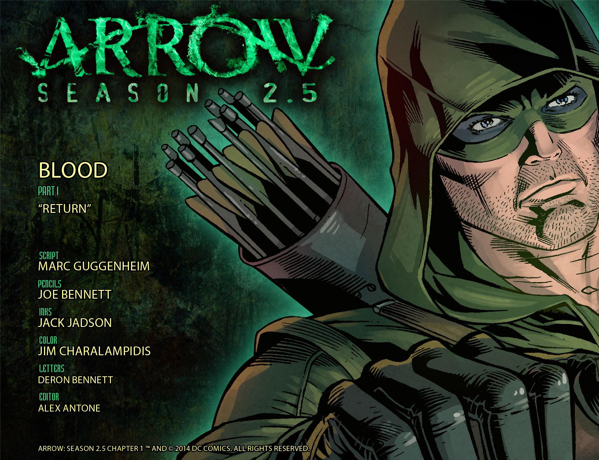 Read online Arrow: Season 2.5 [I] comic -  Issue #1 - 2