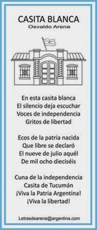 Mi sala amarilla poemas para el d a de la independencia for Canciones de jardin de infantes argentina