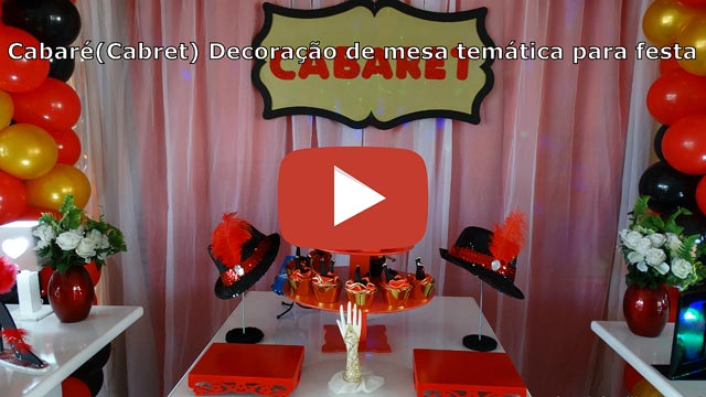 Vídeo decoração provençal tema Cabaret - Moulin Rouge - Festa feminina teen e adulta