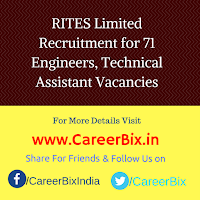 RITES Limited Recruitment for 71 Engineers, Technical Assistant Vacancies