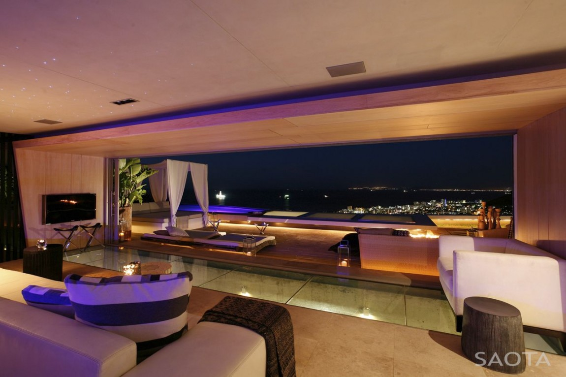 World Of Architecture Amazing Mansion House By Saota Overlooking The City And Ocean Cape Town South Africa