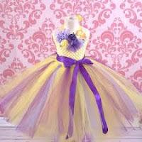 designer yellow tutu