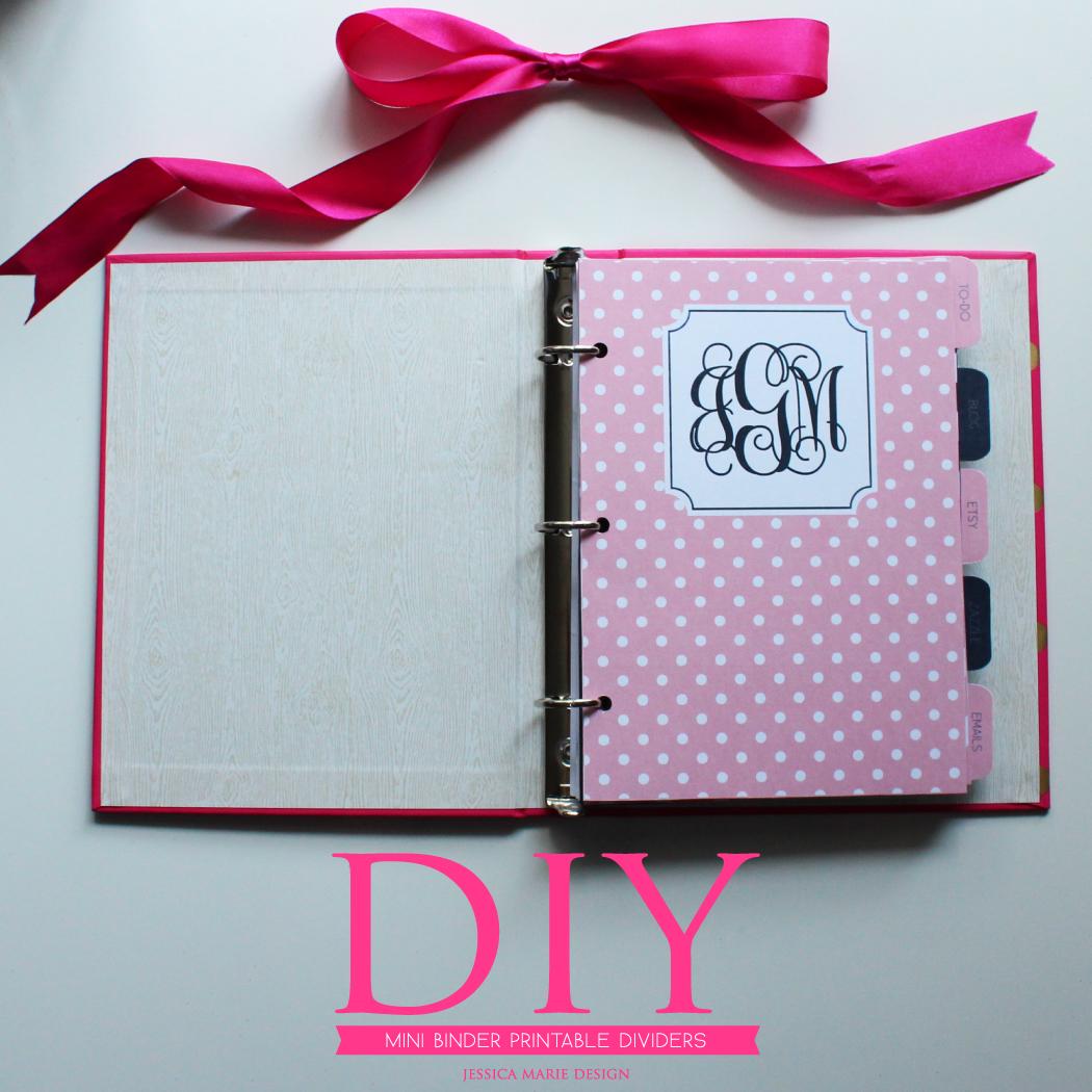 Jessica Marie Design Blog: DIY: Mini Binder Printable Dividers