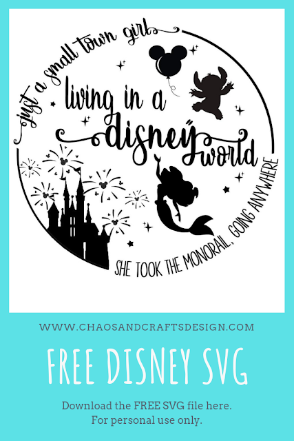 Chaos And Crafts Design Free Disney Svg For Personal Use Only