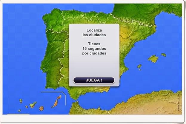 """Ciudades de España"" (Juego de localización geográfica de Secundaria)"