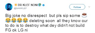 Samklef reacts to FG's plan to stop Entertainers from Shooting Videos abroad