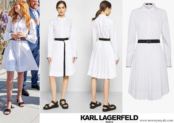 Princess Alexia wore KARL LAGERFELD shirt dress