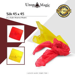 Jual alat sulap silk 45x45 - Uzop MagicShop