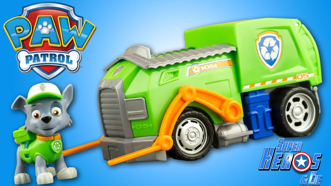 super h ros et compagnie paw patrol la pat 39 patrouille rocky le camion de recyclage. Black Bedroom Furniture Sets. Home Design Ideas