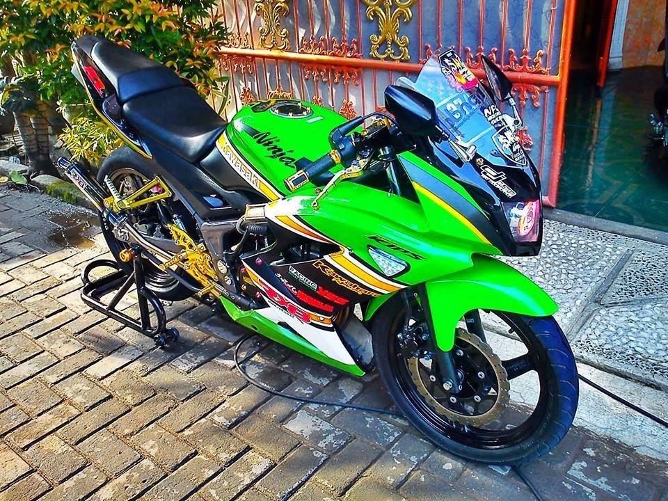 Top modifikasi motor ninja rr hijau