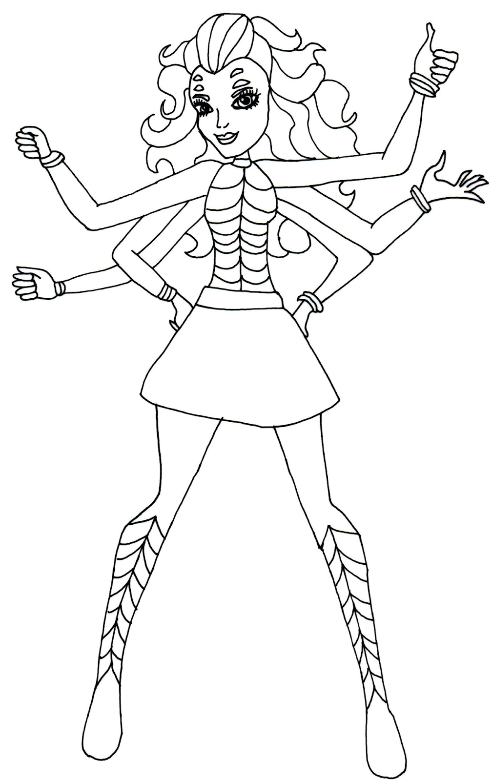 Free Printable Monster High Coloring Pages: Wydowna Spider